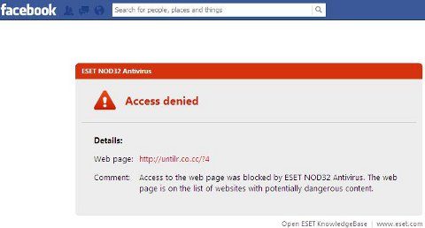 ESET blocking malicious Facebook application Who Viewed Your Profile