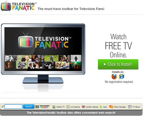 television fanatic toolbar website