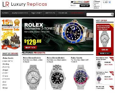 Malicious website Luxury Replicas