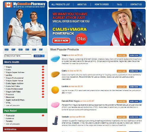 Canadian pharmacy viagra spam