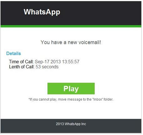 The WhatsApp Malware - You have a new voicemail!