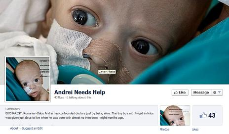 Baby Andrei Needs Help Fake Donation Facebook Page