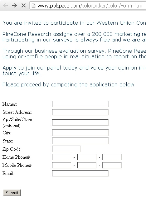 The PineCone Research Email Scam