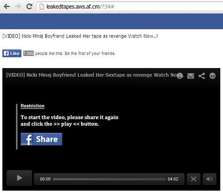 Facebook Scam -
