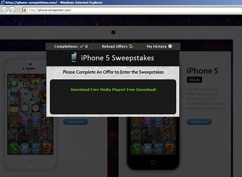 website hxxp://iphone-competition.com/