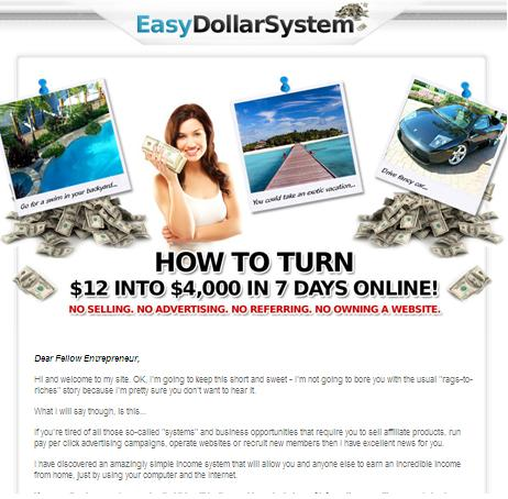 Scamming Websites easydollarsystem.com