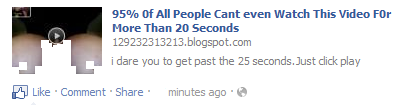 You Cant Watch This Vide0 M0re Than 20 Seconds Malicious Facebook Post