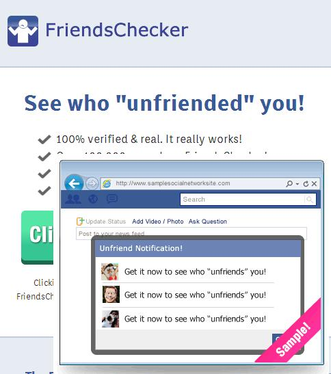 website www.friendschecker.com