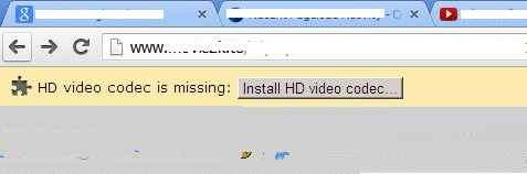 HD Video Codec Missing Plug-in: Install HD Video Codec