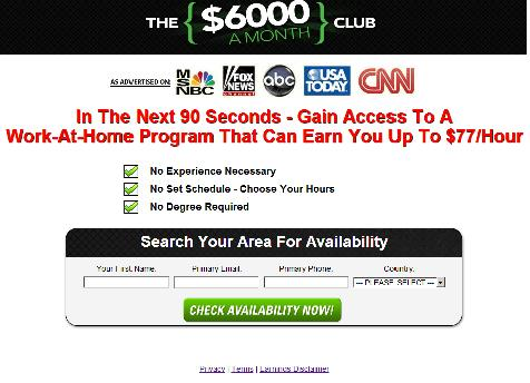 www.6000amonth.com website