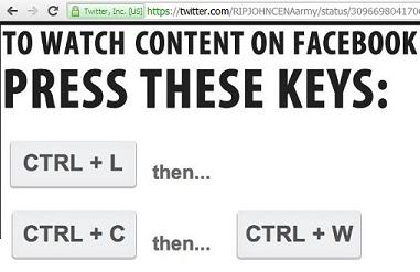 CTRL + L, CTRL + C, and CTRL + W keyboard combination