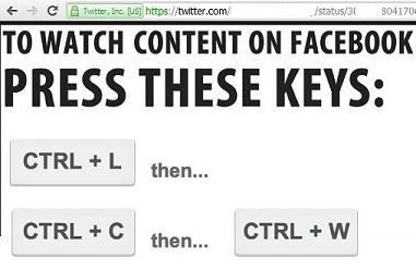 CTRL+L, CTRL+C, CTRL+W and CTRL+V keyboard keys