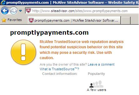McAfee Secure www.promptlypayments.com