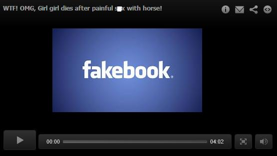 Facebook Malicious Post - OMG, Girl Dies After having S*x With a Horse!
