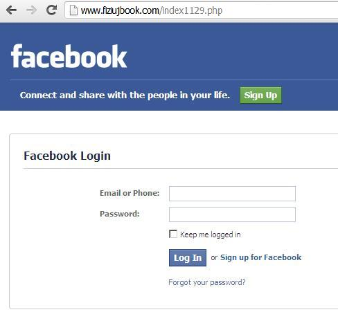 Phishing Facebook Websites: www.funnyvidnames.com and www.fiziujbook.com