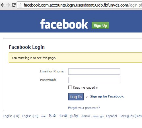 Phishing Facebook Website: http://www.FBfunvdz.com