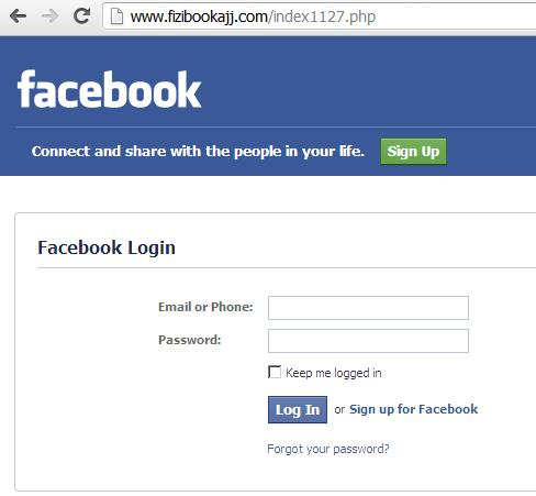 Phishing Facebook Websites: www.fizibookajj.com and www.nameitvid.com