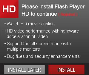 fake Adobe Flash Player installation or download messages