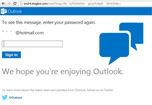 Phishing or Fake Hotmail Outlook Website:  hxxp://ww35.imsglive.com