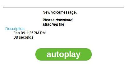 "The ""Missed voice message"" WhatsApp Virus Email"