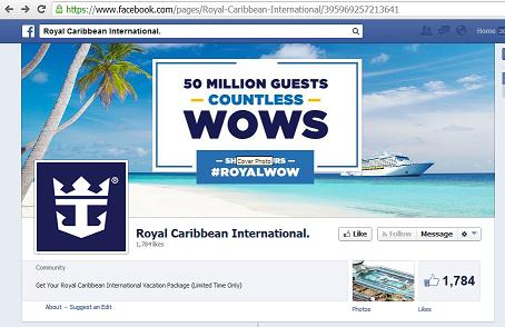 The Fake Facebook Post - Royal Caribbean International Giving Away Vacation Packages