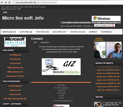 The website www.microlivesoft.info