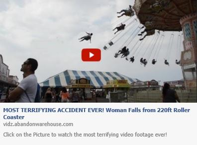 Most Terrifing Accident Ever! Woman Falls from 220ft Roller Coaster' Fake Facebook Post