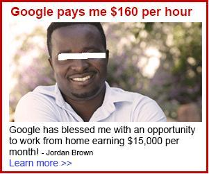 Google Pays Me per Hour/Month Work-From-Home Advertisement Scams