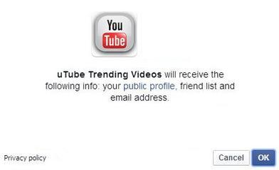 Malicious Facebook Application - uTube Trending Videos