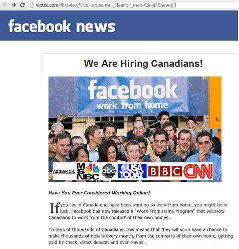 Facebook news - Facebook work from home - We Are Hiring Canadians!