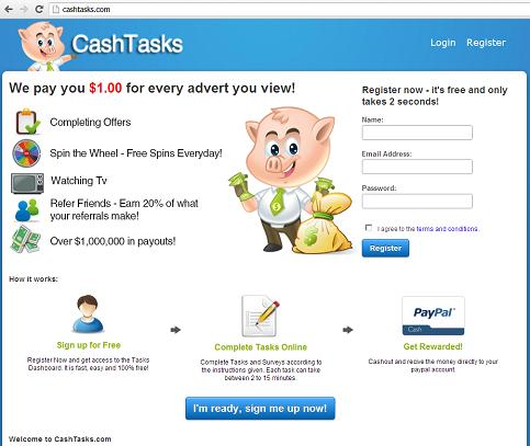 The website www.cashtasks .com