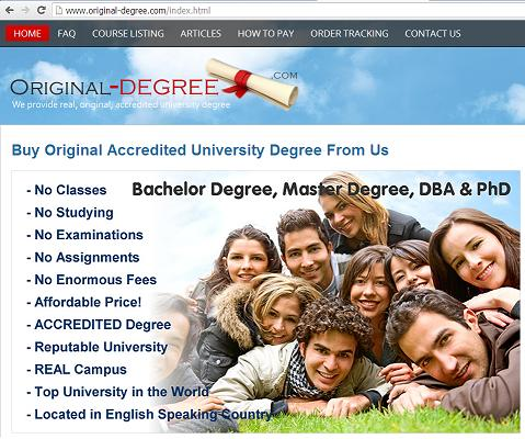 The Fake Degree Buying Online Website www.original-degree.com
