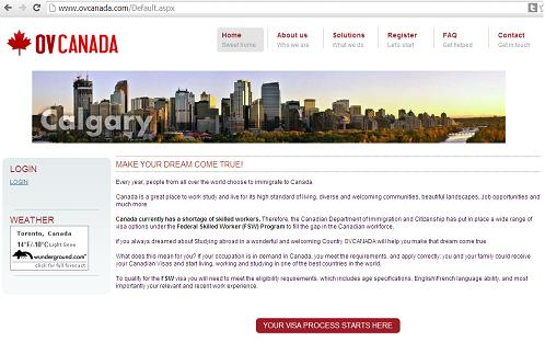 he Canadian Visas and Immigration Advice Website www.ovcanada.com