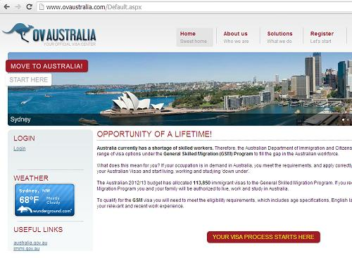 The Canadian Visas and Immigration Advice Website www.ovaustralia.com