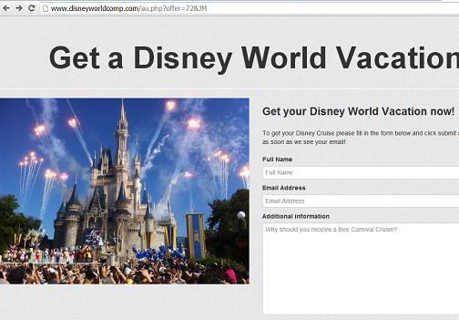 The Fake Walt Disney Website www.disneyworldcomp.com
