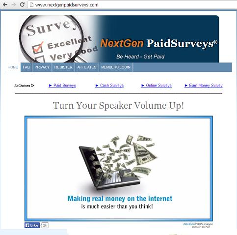 The Website www. nextgenpaidsurveys.com