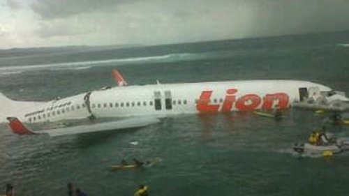 Lion Air plane that crashed into the sea off Bali in 2013