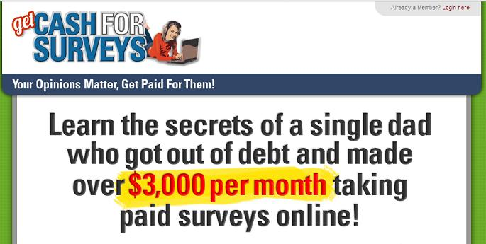 Websites surveyegg.com and www.getcashforsurveys.com