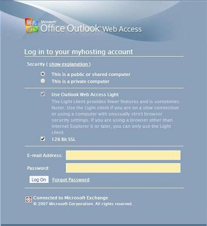 Fake Microsoft Outlook Web Access Page