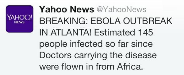 BREAKING EBOLA OUTBREAK IN ATLANTA