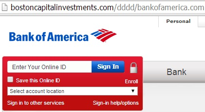 fake bank of american website - bostoncapitalinvestments.com