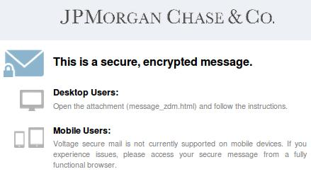 The Phishing JP Morgan Chase Email