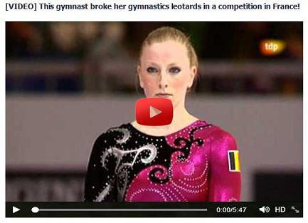 Video Scam - This gymnast broke her gymnastics leotards in a competition in France