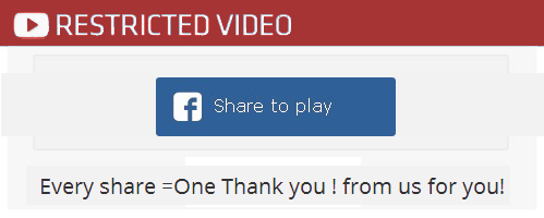 Restricted Video - Every share one thank you from us for you