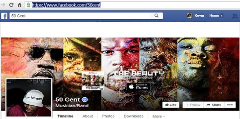 50 Cent Facebook Page