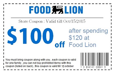 Food Lion is Giving Away $100 FREE Vouchers