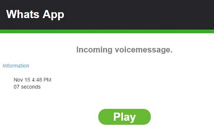 WhatsApp Incoming Voice message