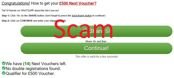 giftcard-promotions.com - £500 Next Voucher