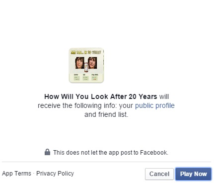 Fake Facebook App: How Will You Look After 20 Years