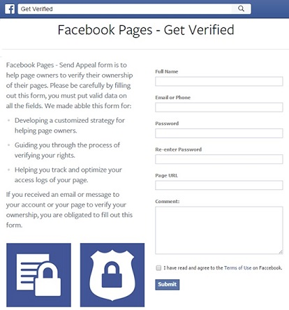Fake Facebook App -  Get Verified